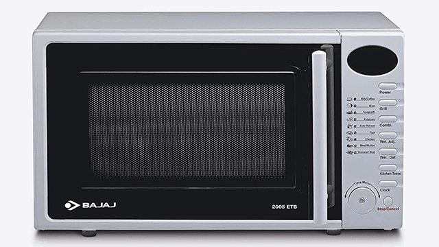 Bajaj 20 Litres Grill Microwave Oven with Jog Dial (2005 ETB)